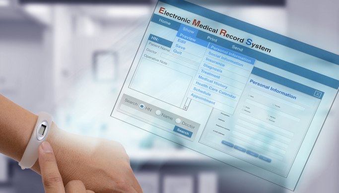 Electronic Health Record Screen
