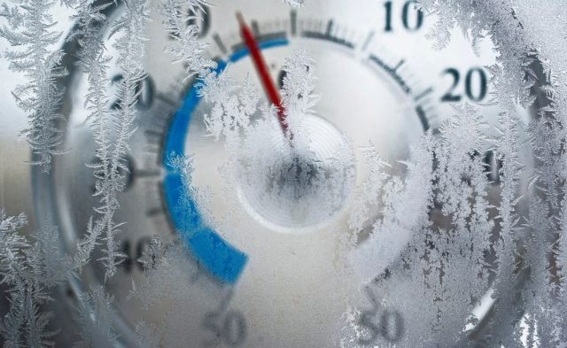 Frozen thermometer, winter, weather
