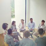 Group therapy, talking, circle