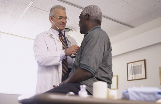 doctor with male patient