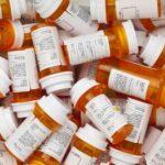 Prescription bottles, medicine