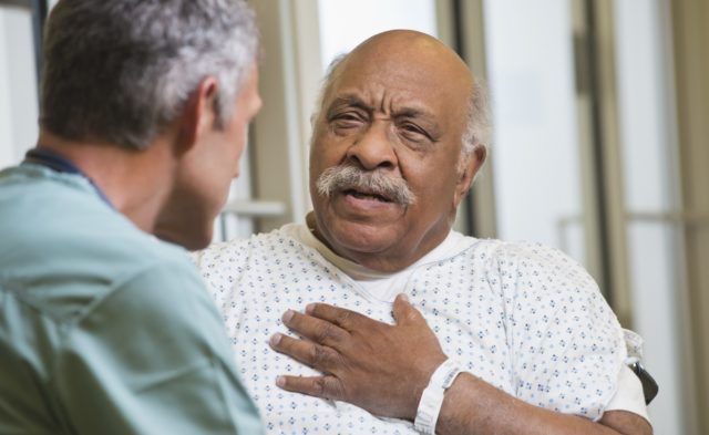 African American patient heart issues, chest
