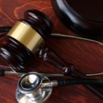 Medical lawsuit, gavel, stethoscope