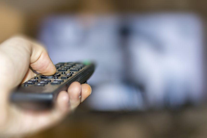 television, remote, commercial