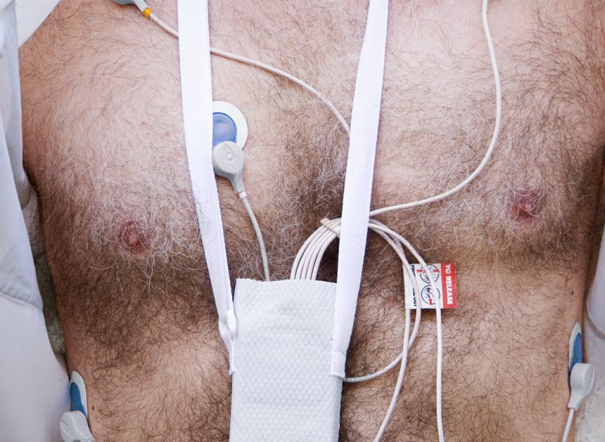 Man wearing holter monitor